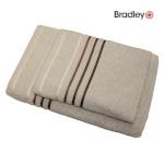 Bradley froteerätik 50 x 70 cm, triibulise bordüüriga, beež