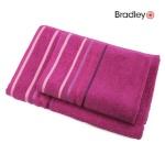 Bradley froteerätik 50 x 70 cm, triibulise bordüüriga, tumeroosa