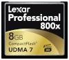 Lexar mälukaart CF 8GB 800X Professional UDMA7