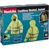 Makita DCJ206Z Gr.M kollane Akku Thermo Jacket