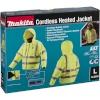 Makita DCJ206Z Gr. L kollane Akku Thermo Jacket