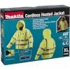 Makita DCJ206Z Gr. XL kollane Akku Thermo Jacket