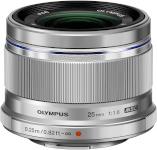 Olympus objektiiv ED 25mm F1.8 hõbedane