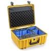 B&W Copter Case Type 6000 Y kollane DJI FPV Combo Inlay