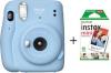 Fujifilm polaroid kaamera Instax mini 11 Sky Blue, helesinine + 10tk fotopaber