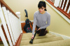 Bissell Carpet Cleaner StainPro 4 Corded operating, Handstick, Dry cleaning, 800 W, punane/Titanium