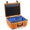 B&W Copter Case Type 6000 O oranž DJI FPV Combo Inlay