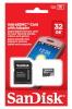 SanDisk mälukaart microSDHC 32GB + SD adapter