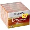 Sony kassett miniDV DVM 60 Premium 5-pakk