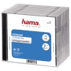 Hama CD karbid Double Box Jewel-Case (44747) 10tk. läbipaistev/must