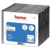 Hama CD/DVD karp Slim CD Jewel Case (51167), 25tk. läbipaistev/must