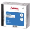 Hama CD/DVD karbid Standard Double Jewel Case (44745), 5tk läbipaistev/must
