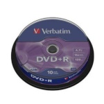 Verbatim toorikud DVD+R 4.7GB 16x AZO Cake 10tk.