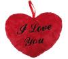 BGB Punane südamekujuline padi kirjaga I Love You 26 cm