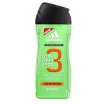 Adidas 3in1 Active Start Shower gel 400ml, meestele