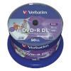Verbatim toorikud 1x50 DVD+R Double Layer 8x Speed, 8,5GB wide printable