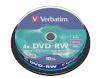Verbatim toorikud 1x10 DVD-RW 4,7GB 4x Speed, matte silver Cakebox