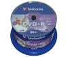 Verbatim toorikud 1x50 DVD+R 4,7GB 16x Speed, wide printable NON-ID