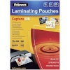 Fellowes lamineerimiskile Glossy 125 Micron Card Laminating Pouch 75x105 mm