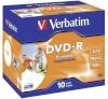 Verbatim toorik 1x10-pack DVD-R 4,7GB 16x Speed, Jewel Case, printable