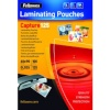 Fellowes lamineerimiskile Glossy 125 Micron Card Laminating Pouch - 60x90 mm