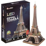 Cubicfun 3D pusle Eiffeli Torn LED-valgustusega 84-osaline