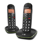 Doro telefon PhoneEasy 100 w Duo must