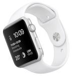 Apple nutikell Watch Sport 42mm hõbedane, Aluminium Case with valge Sport Band