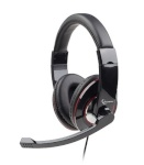 Gembird MHS-001-GW Stereo headset 3.5 mm, Glossy black, Built-in microphone