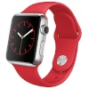 Apple nutikell Watch 38mm Stainless Steel punane Sport Band MLLD2FD/A