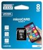 Goodram mälukaart microSDHC 8GB C4 1-adapter