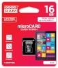 Goodram mälukaart microSDHC 16GB CL10 UHS-I + adapter
