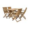 Komplekt FINLAY laud ja 4 tooli (13182), 110x75xH72cm, kokkupandav, puit: akaatsia, viimistlus: õlitatud