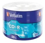 Verbatim toorikud CD-R 52x 700MB 50tk SP Extra Protection Wrap 43787
