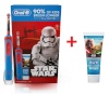 Braun hambahari Oral-B Kids Star Wars (D12.513K) + hambapasta Berry Bubbles 75ml