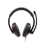 Gembird MHS-U-001 USB stereo headset USB, Glossy black, Built-in microphone