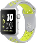 Apple nutikell Watch Series 2 Nike+ 38mm Silver Aluminium Case with Flat Silver/Volt Nike Sport Band