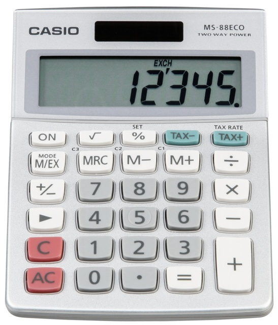 d3c9cd5305e Casio kalkulaator MS-88 ECO - Koolitarbed - Lapsed - Digizone