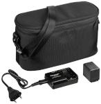 Panasonic aku VW-VBT190 + akulaadija VW-BC10 + kaamerakott VW-ACT380E-K (VW-ACT380 Camcorder Starter Kit)
