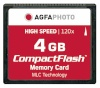 AgfaPhoto mälukaart Compact Flash 4GB High Speed 120x MLC