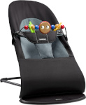 BabyBjörn lamamistool Balance Soft Cotton Black/Grey with Toys (605001A)