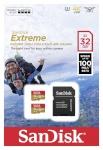 SanDisk mälukaart microSDHC Extreme 32GB Action A1 100MB/s + adapter (2-pakk)