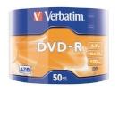 Verbatim toorikud DVD-R 16x 4.7GB 50tk SP Matt hõbedane Wrap 43788