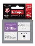 Activejet tindikassett AB-123BR (Brother, LC123BK/121BK premium 20ml must)