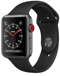 Apple Watch Series 3 GPS + Cellular 38mm Space Gray Aluminum Case with Black Sport Band