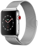 Apple nutikell Watch Series 3 GPS + Cellular 42mm Stainless Steel Case with Silver Milanese Loop